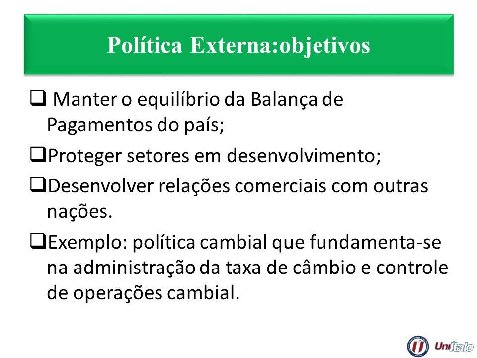 Política Externa:objetivos
