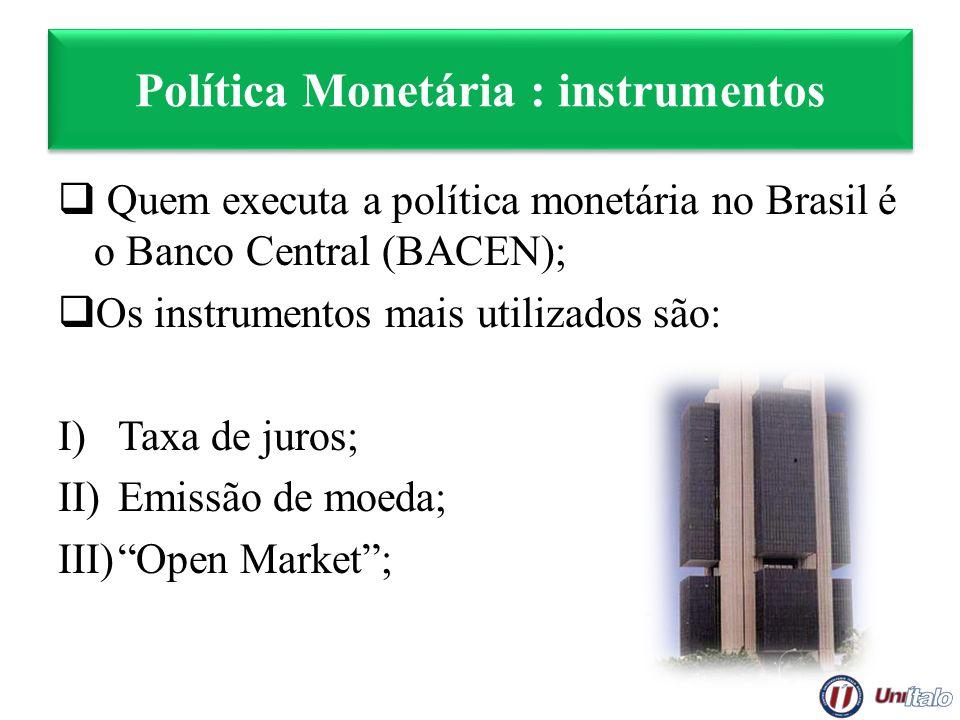 Política Monetária : instrumentos