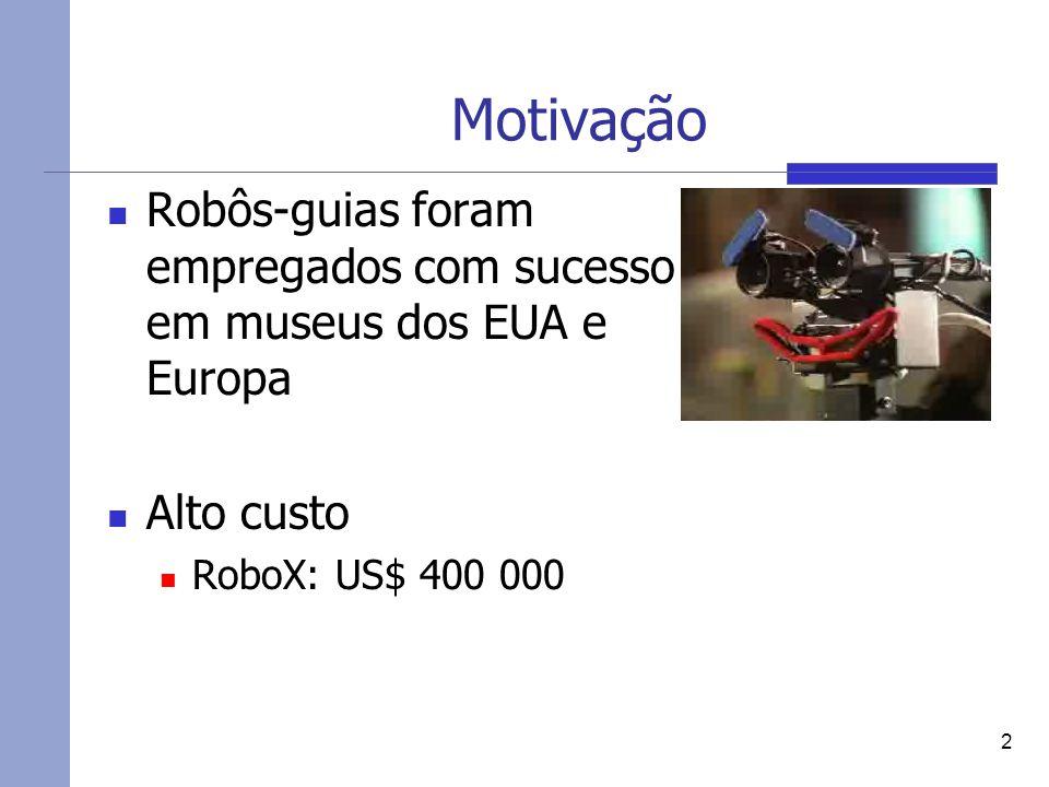Motivação Robôs-guias foram empregados com sucesso em museus dos EUA e Europa.