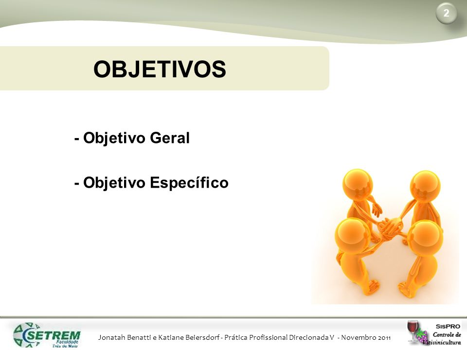 OBJETIVOS - Objetivo Geral - Objetivo Específico Katiane