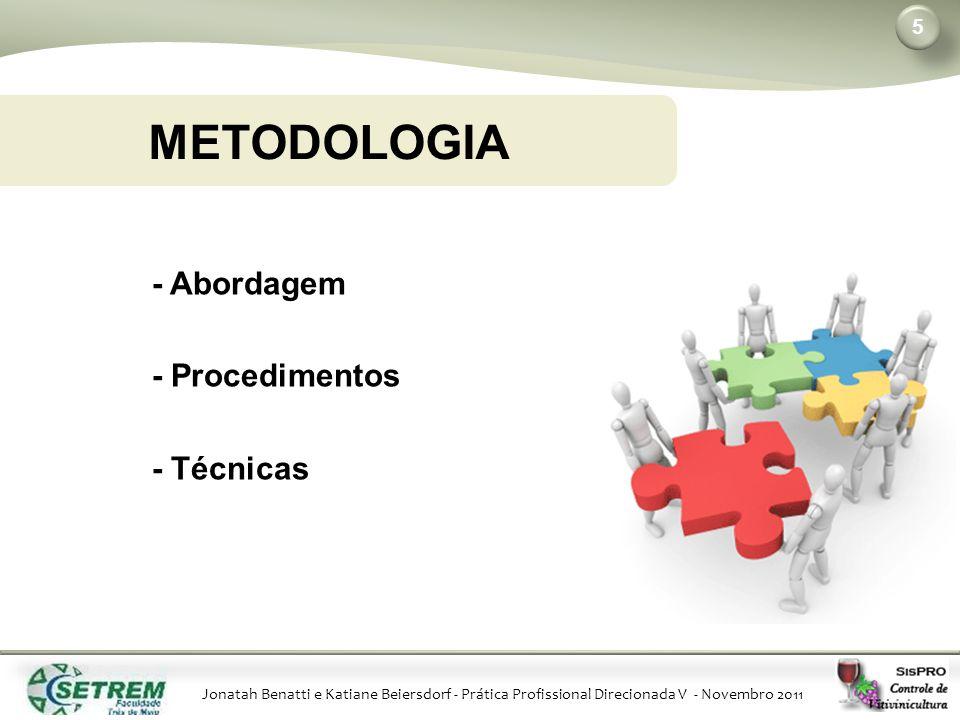 METODOLOGIA - Abordagem - Procedimentos - Técnicas Benatti