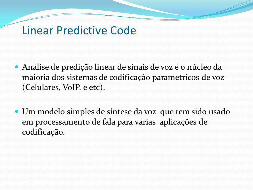 Linear Predictive Code