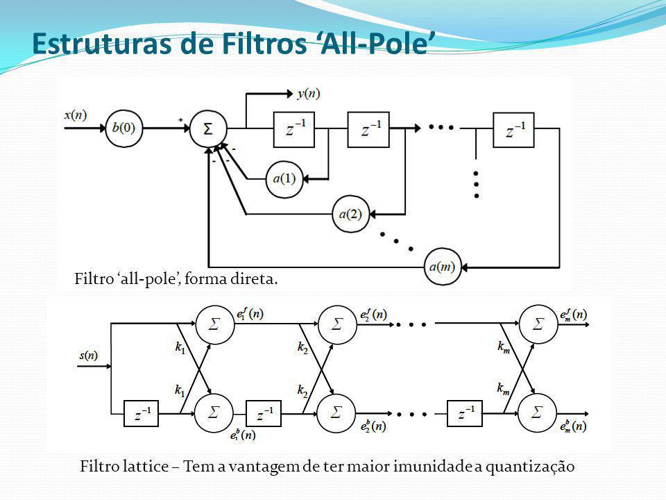 Estruturas de Filtros 'All-Pole'