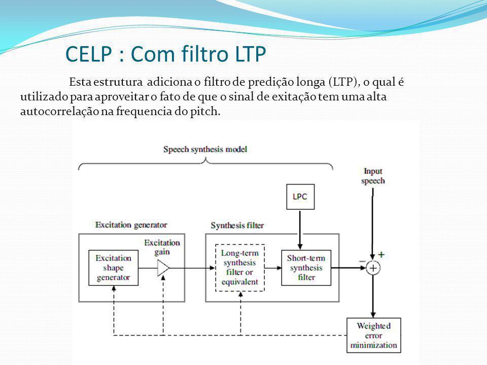 CELP : Com filtro LTP