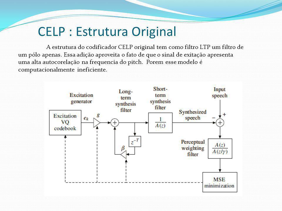CELP : Estrutura Original