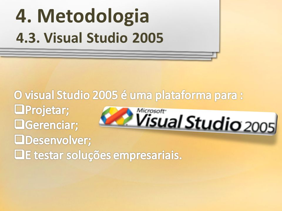 4. Metodologia 4.3. Visual Studio 2005