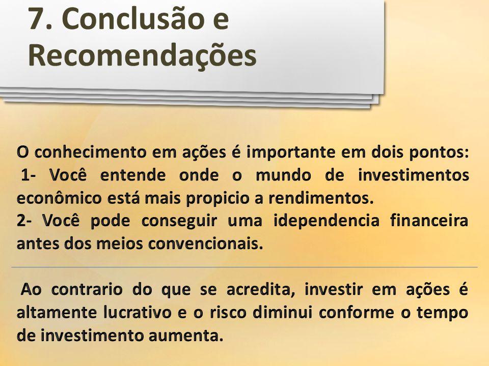 7. Conclusão e Recomendações