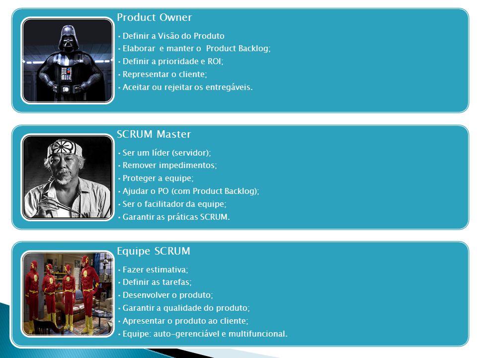 Product Owner SCRUM Master Equipe SCRUM Definir a Visão do Produto