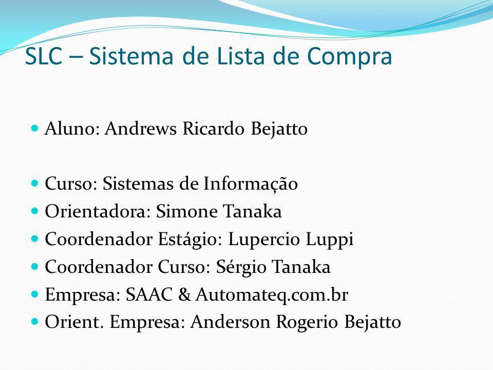 SLC – Sistema de Lista de Compra