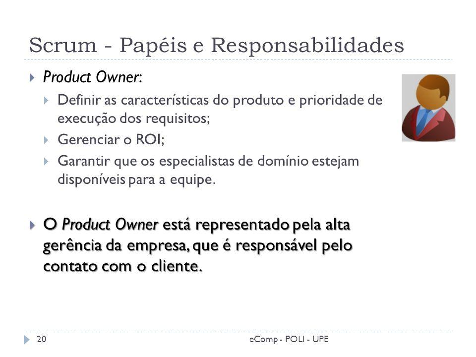 Scrum - Papéis e Responsabilidades