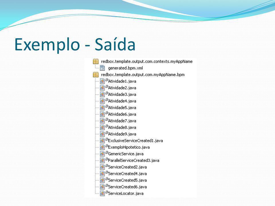 Exemplo - Saída
