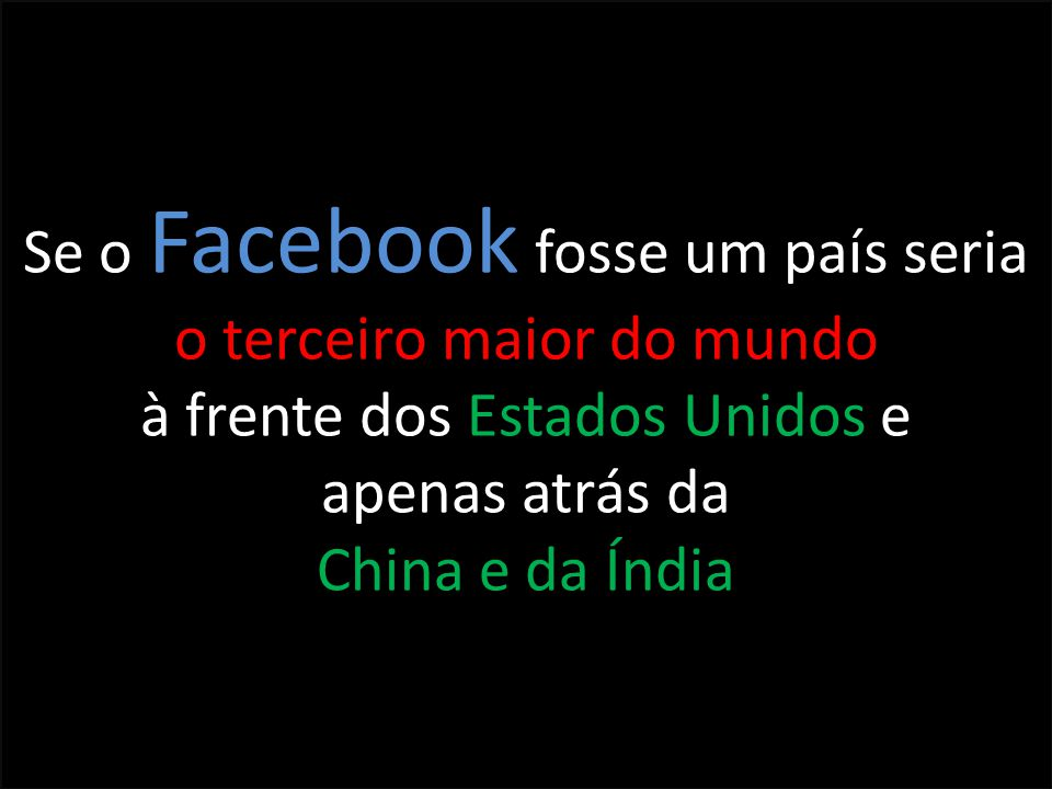 Se o Facebook fosse um país seria o terceiro maior do mundo