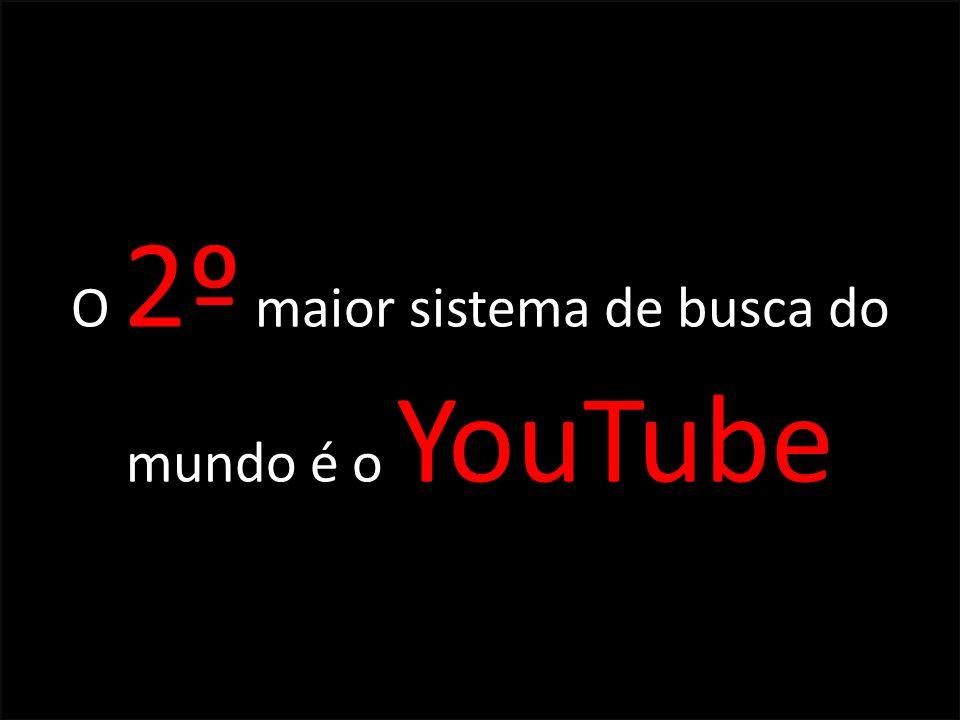 O 2º maior sistema de busca do mundo é o YouTube