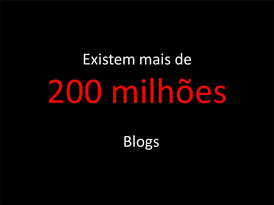 Existem mais de 200 milhões Blogs