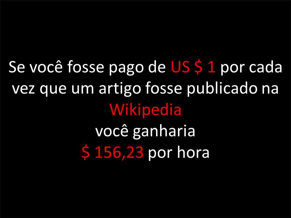 Se você fosse pago de US $ 1 por cada vez que um artigo fosse publicado na Wikipedia