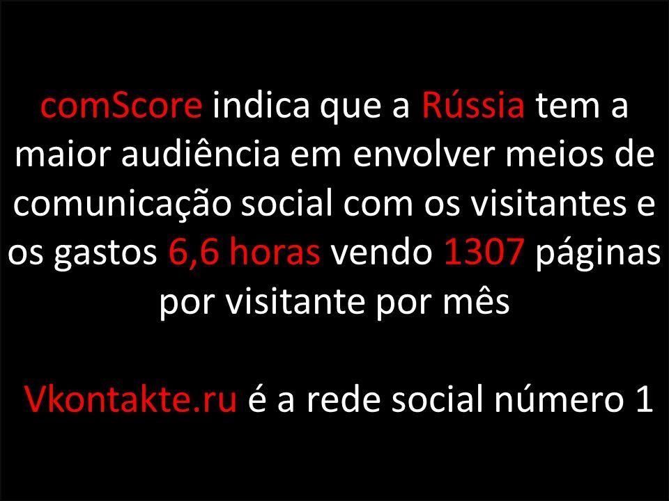 Vkontakte.ru é a rede social número 1