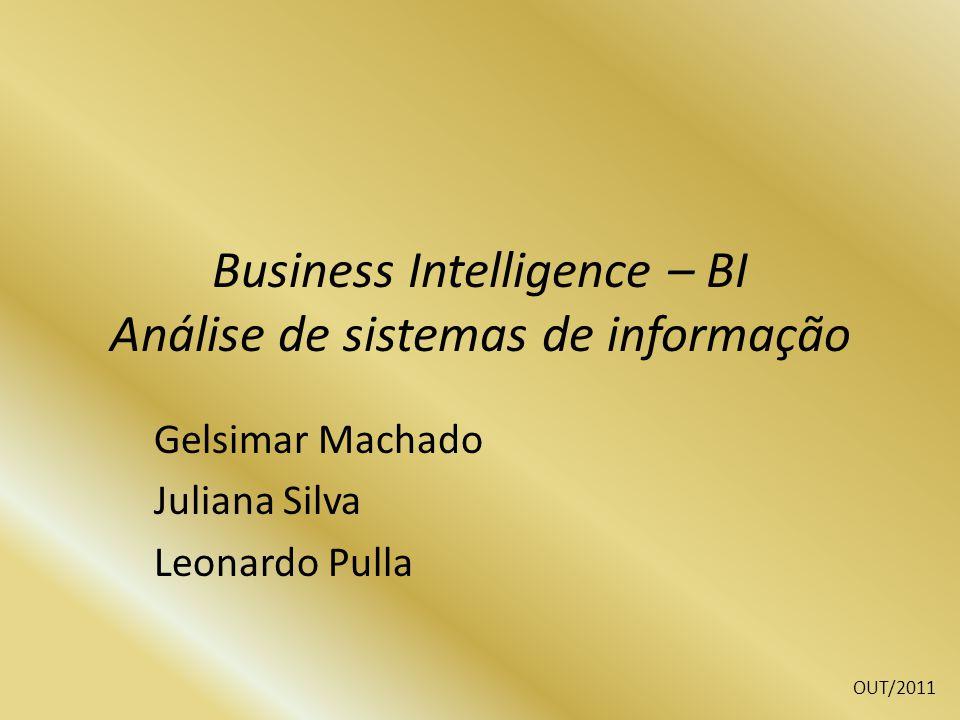 Business Intelligence – BI Análise de sistemas de informação