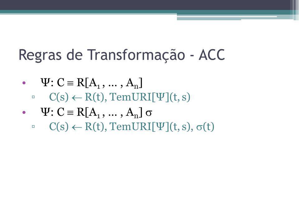 Regras de Transformação - ACC