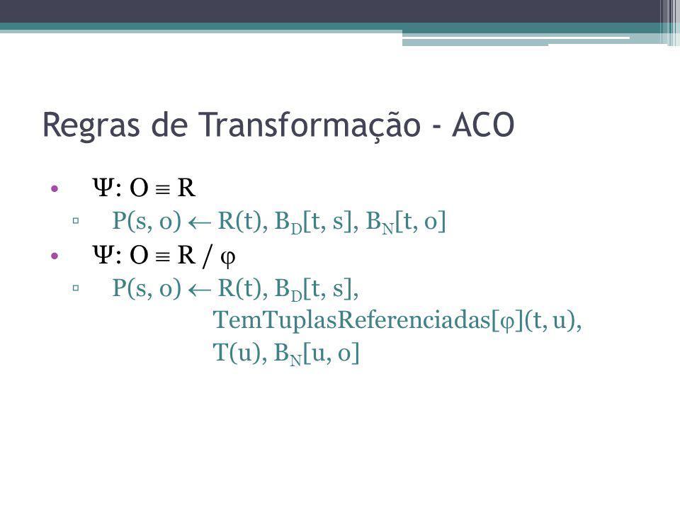 Regras de Transformação - ACO