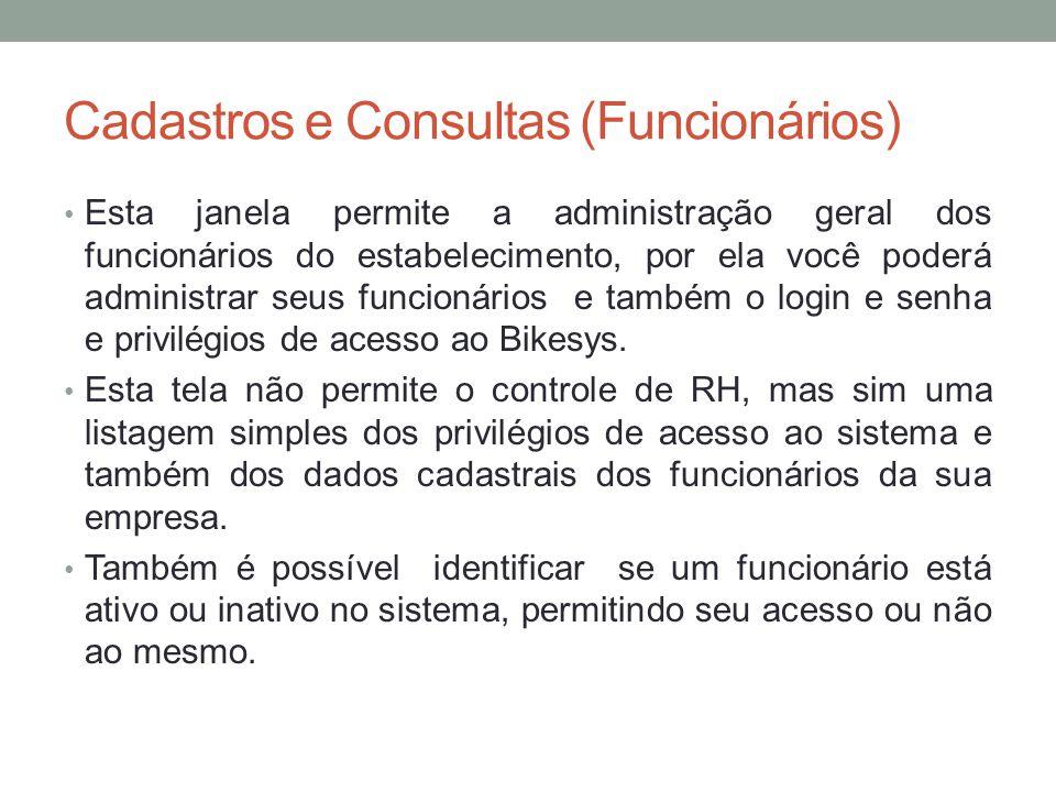 Cadastros e Consultas (Funcionários)
