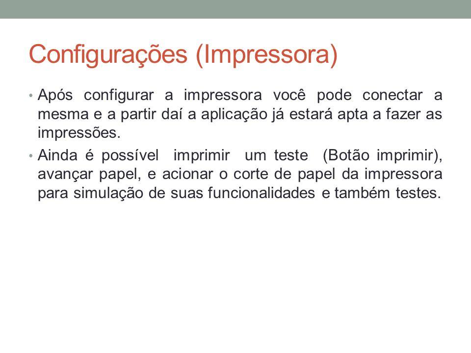 Configurações (Impressora)
