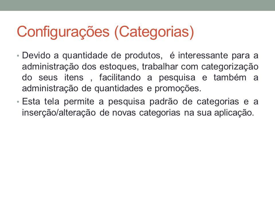 Configurações (Categorias)