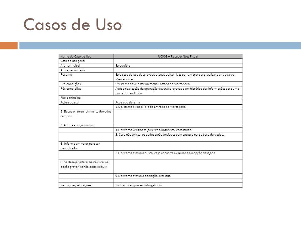 UC003 – Receber Nota Fiscal