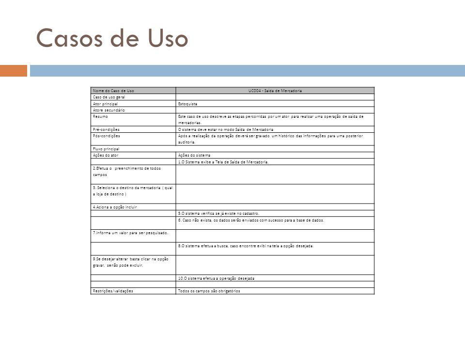 UC004 - Saída de Mercadoria