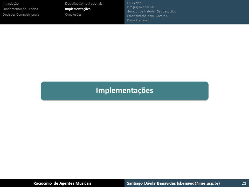 Implementações Introdução Fundamentação Teórica
