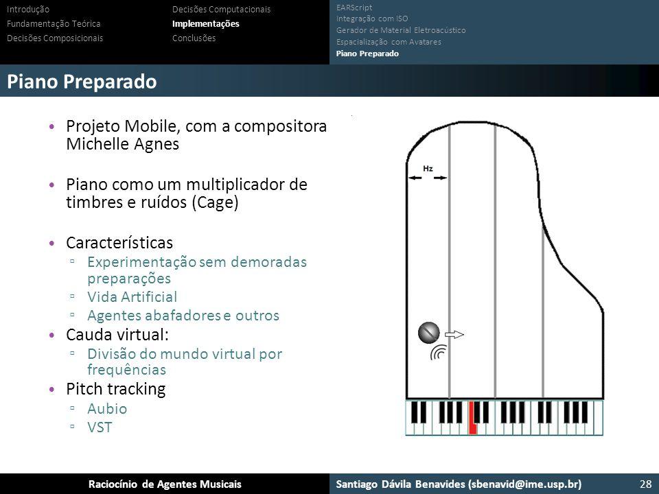 Piano Preparado Projeto Mobile, com a compositora Michelle Agnes