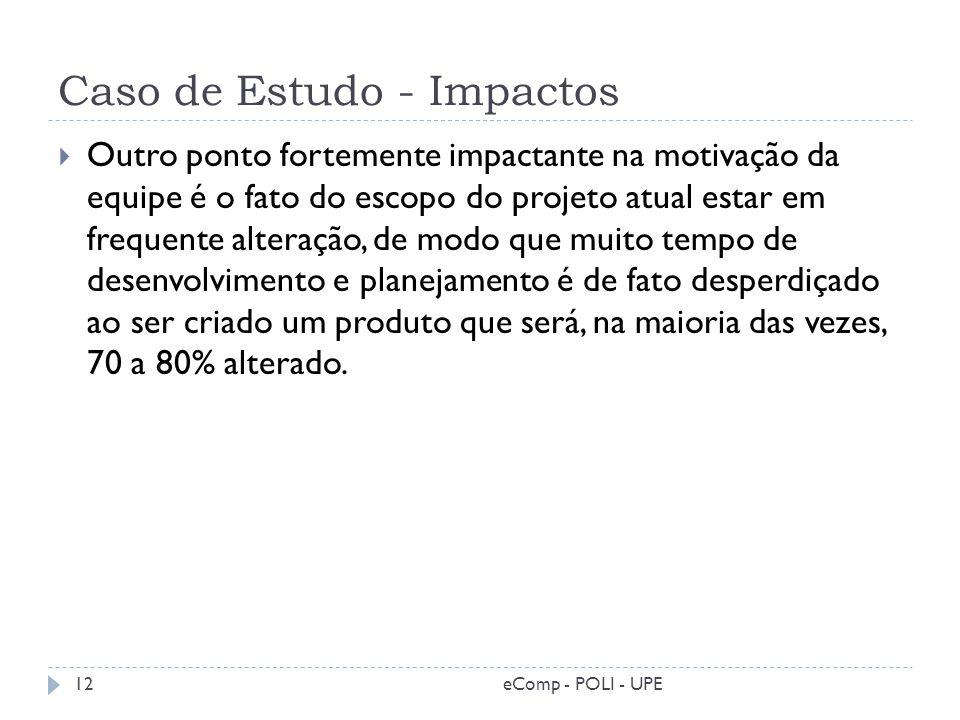 Caso de Estudo - Impactos