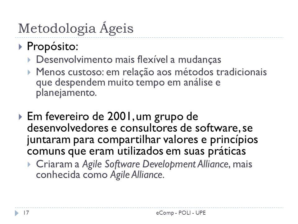 Metodologia Ágeis Propósito: