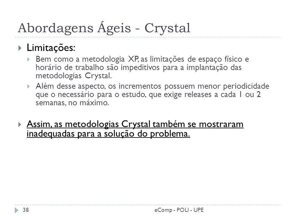 Abordagens Ágeis - Crystal