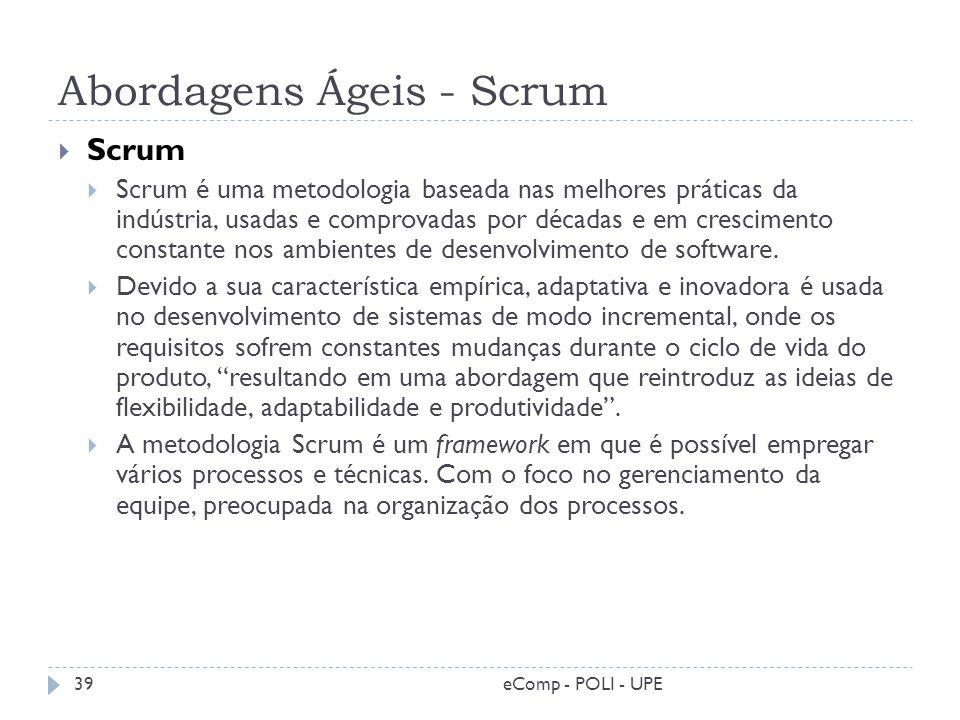 Abordagens Ágeis - Scrum