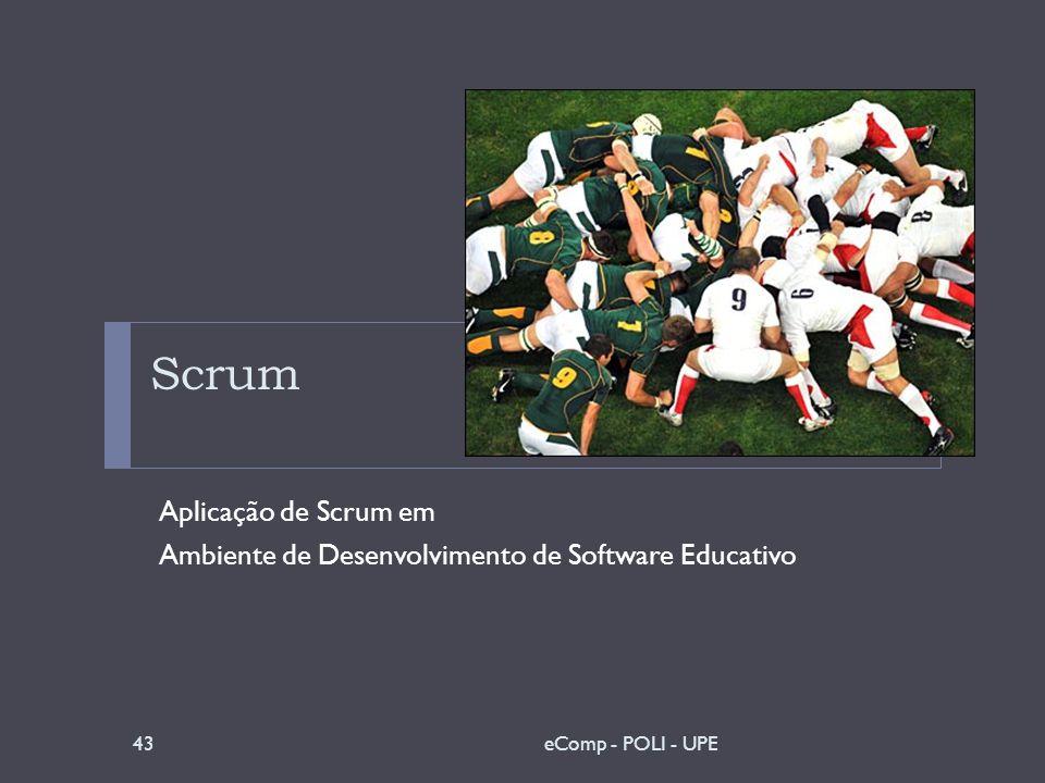 Scrum Aplicação de Scrum em