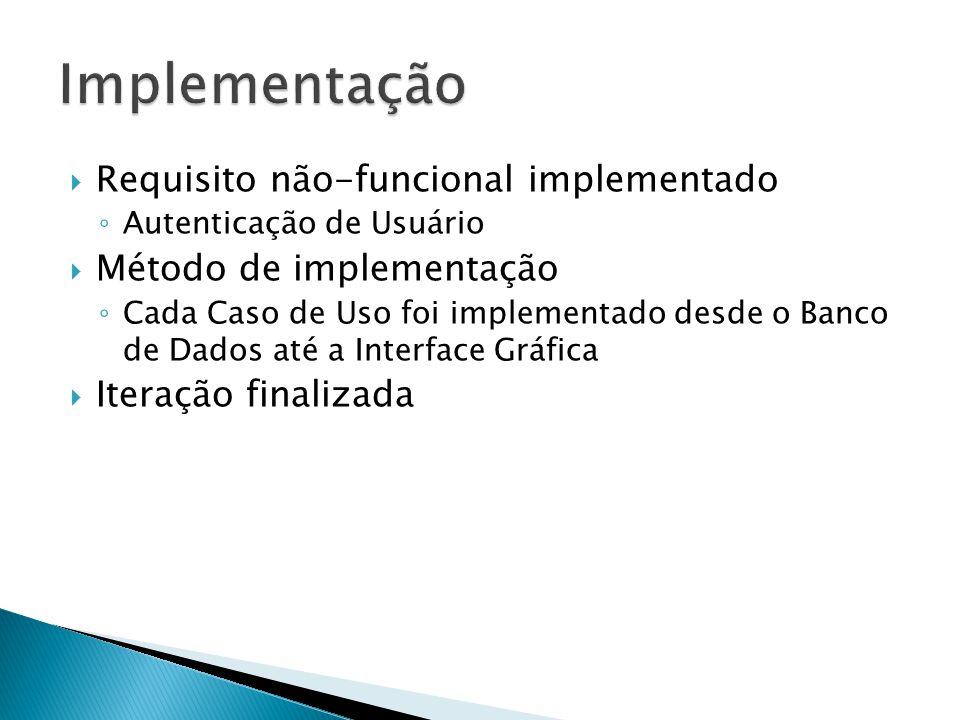 Implementação Requisito não-funcional implementado
