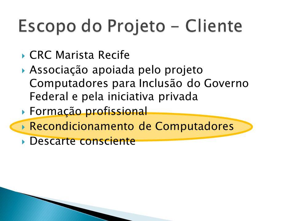 Escopo do Projeto - Cliente