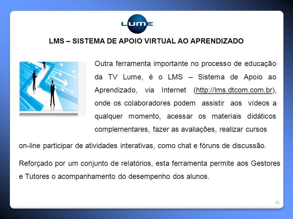 LMS – SISTEMA DE APOIO VIRTUAL AO APRENDIZADO