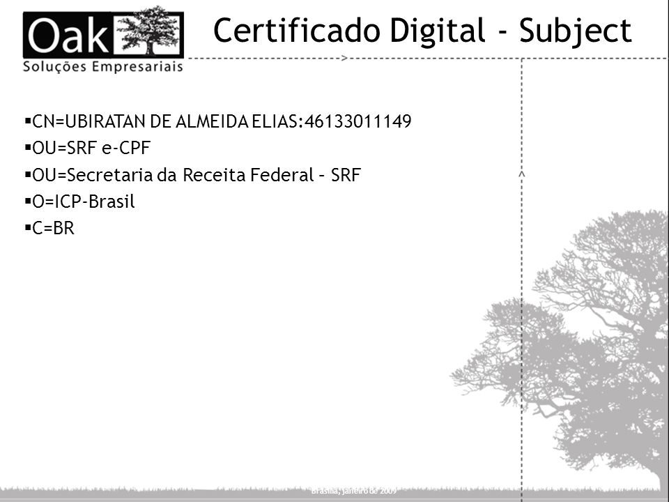 Certificado Digital - Subject