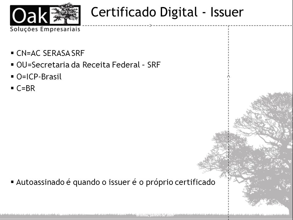Certificado Digital - Issuer