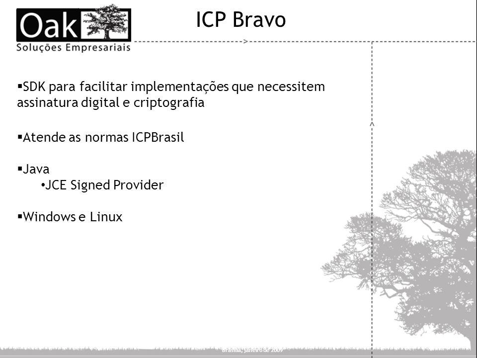 ICP Bravo SDK para facilitar implementações que necessitem assinatura digital e criptografia. Atende as normas ICPBrasil.