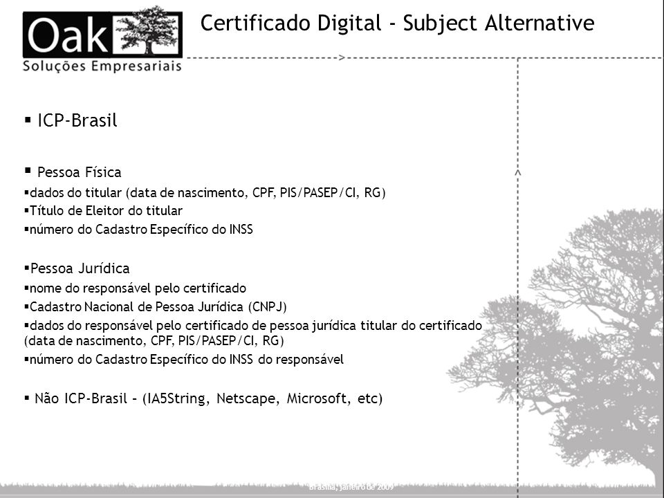 Certificado Digital - Subject Alternative
