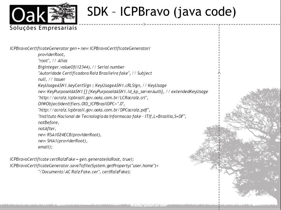 SDK – ICPBravo (java code)