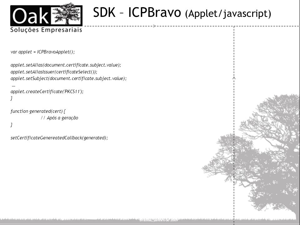 SDK – ICPBravo (Applet/javascript)