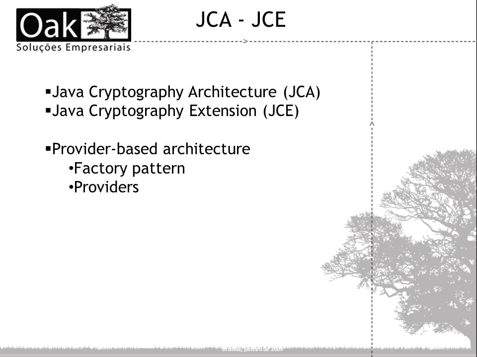 JCA - JCE Java Cryptography Architecture (JCA)