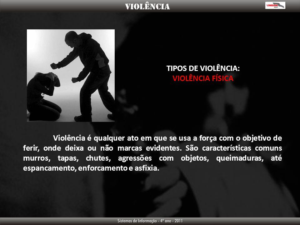 TIPOS DE VIOLÊNCIA: VIOLÊNCIA FÍSICA.
