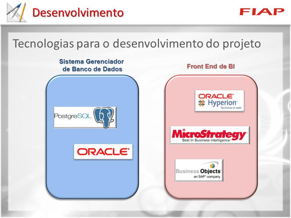 Tecnologias para o desenvolvimento do projeto