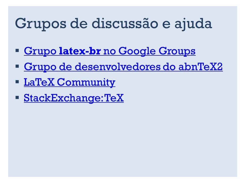 Grupos de discussão e ajuda