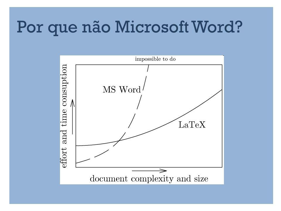 Por que não Microsoft Word