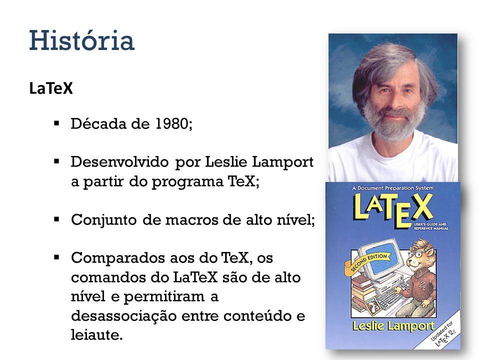 História LaTeX Década de 1980;